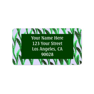 Green branches address label