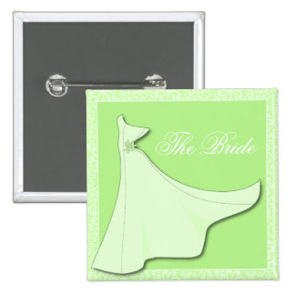 Green Bridal Gown - Bridal Shower Button