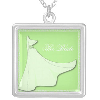 Green Bridal Gown - Bridal Shower necklace