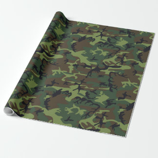 Green Brown Black Hunting Camouflage Wrapping Paper