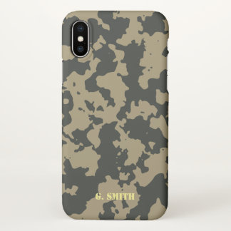 Green Brown Camouflage. Camo your iPhone X Case