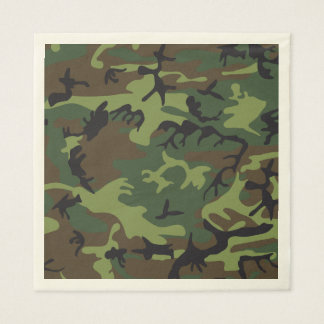 Green Brown Camouflage. Camo your Paper Napkins