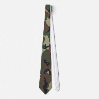 Green Brown Camouflage Neck Tie