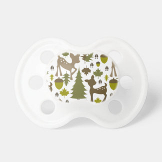 Green + Brown Deer Pacifier
