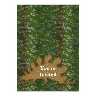 Green & Brown Dinosaur Skin Monogram Card