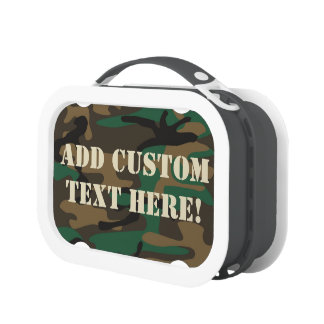 Green Brown Military Camo Camouflage Lunchboxes