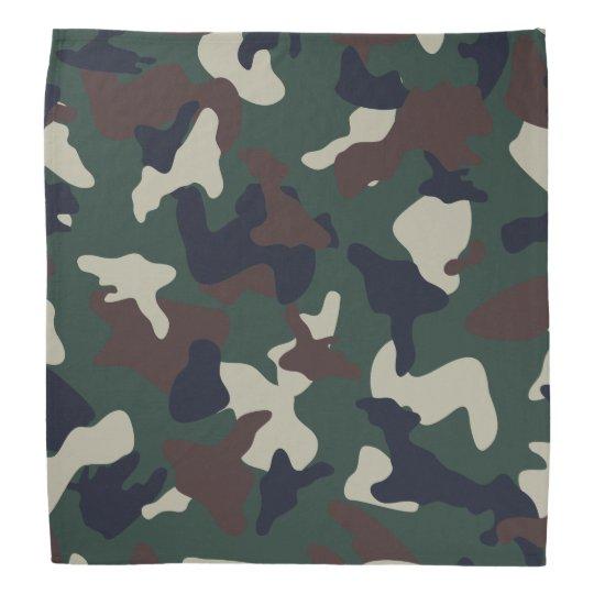 Green Brown woodland camo camouflage pattern Bandana