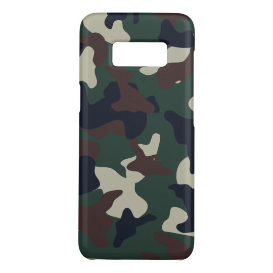 Green Brown woodland camo camouflage pattern Case-Mate Samsung Galaxy S8 Case