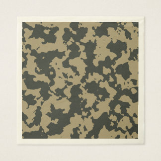 Green Brown Woodland Camouflage. Camo your Paper Serviettes
