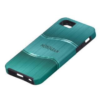 Green Brushed Aluminum Metallic Look Customized Tough iPhone 5 Case