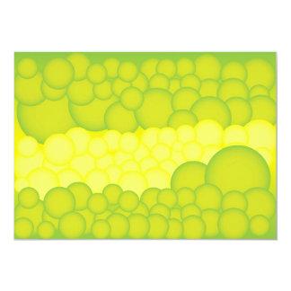 Green Bubbles 13 Cm X 18 Cm Invitation Card