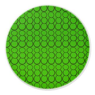 GREEN BUBBLES CERAMIC KNOB