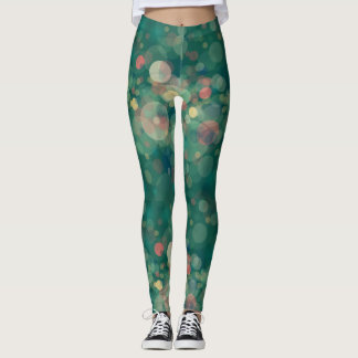 Green bubbles leggings, dreamy drops underwater leggings