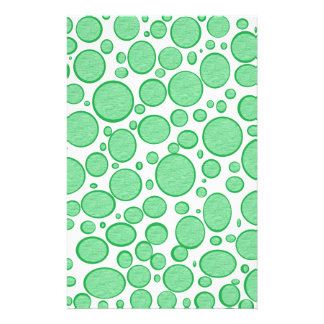 Green Bubbles Lightened Stationery