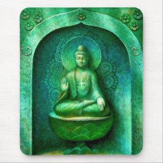 Green Buddha Mouse Pad
