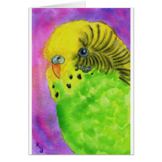 Green Budgie Card