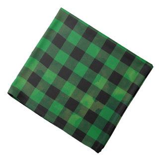 Green Buffalo Check Pattern Bandana