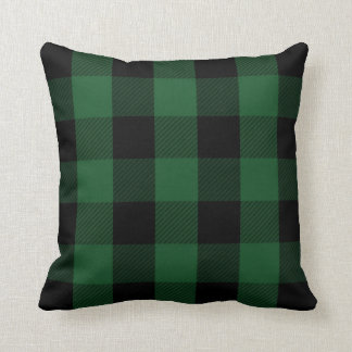 Green Buffalo Check | Rustic Plaid Pattern Cushion