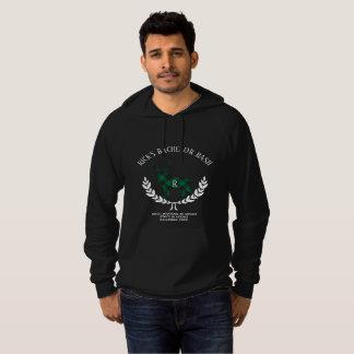 Green Buffalo Plaid Stag Monogram Hoodie