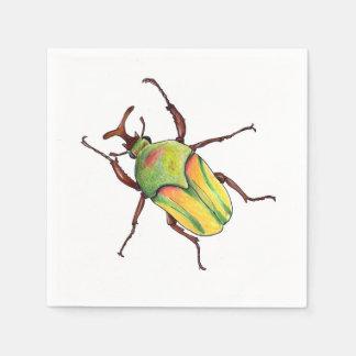 green bug napkins paper napkin