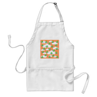 Green Bugs and Orange Sky. Adult Apron