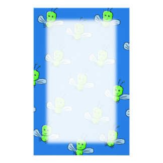 Green Bugs Pattern Personalised Stationery
