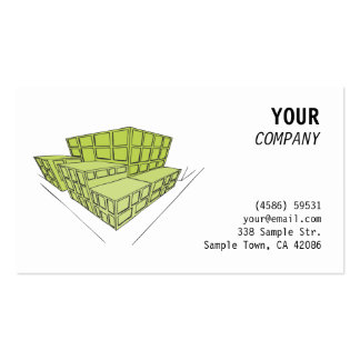Green buildings in perspective business card templates