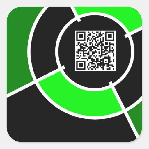 green bullseye QR code Sticker