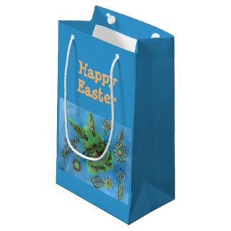 green bunny gift bag