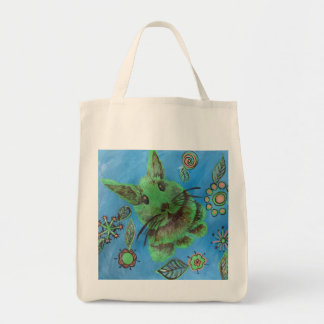 green bunny grocery tote
