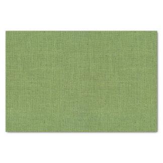 Green Burlap Texture Tissue Paper