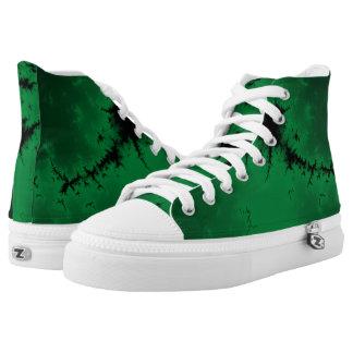 Green Burst Hi Top Printed Shoes