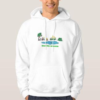 Green Bus Adventures Camping Hoodie