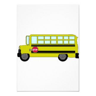 Green Bus Invitations