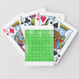 Green butterflies bicycle playing cards