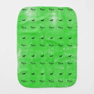 Green butterflies burp cloth