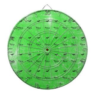 Green butterflies dartboard
