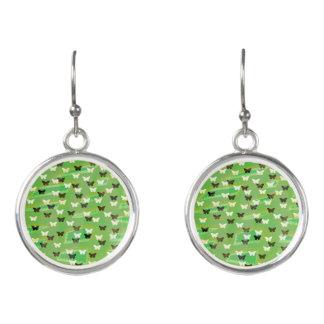 Green Butterflies Earrings