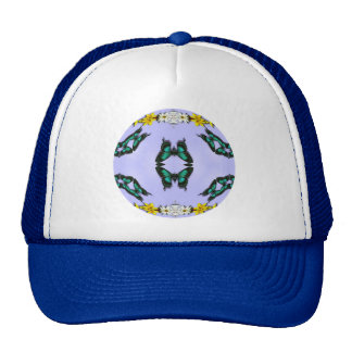 Green Butterflies Trucker Hats