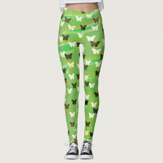 Green Butterflies Leggings