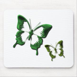 Green Butterflies Mouse Pad