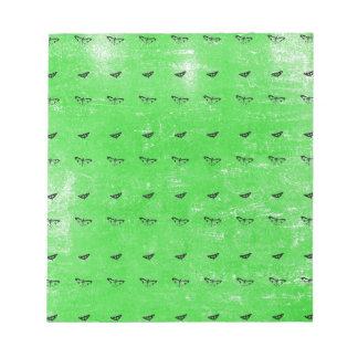 Green butterflies notepad
