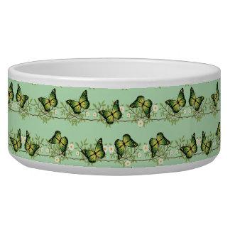 Green butterflies pattern