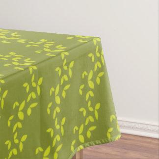 Green butterflies pattern tablecloth