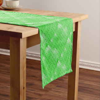 Green butterflies short table runner