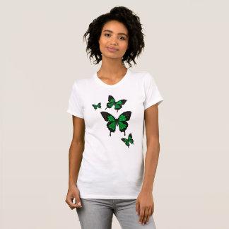 Green Butterflies,  Swallow tail Butterfly T-Shirt