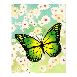 Green butterfly 21.5 cm x 28 cm flyer