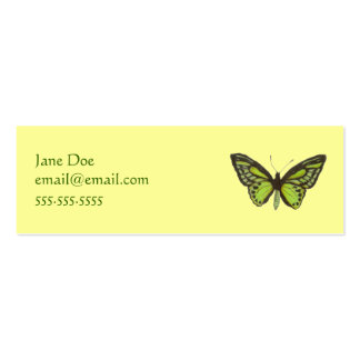 Green Butterfly Calling Card Business Cards