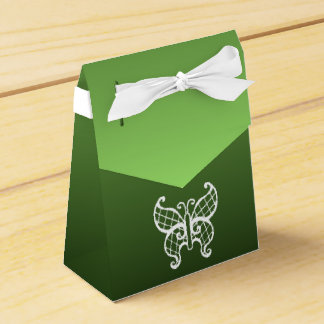 Green Butterfly Favor Box Favour Box