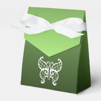 Green Butterfly Favor Box Favour Box
